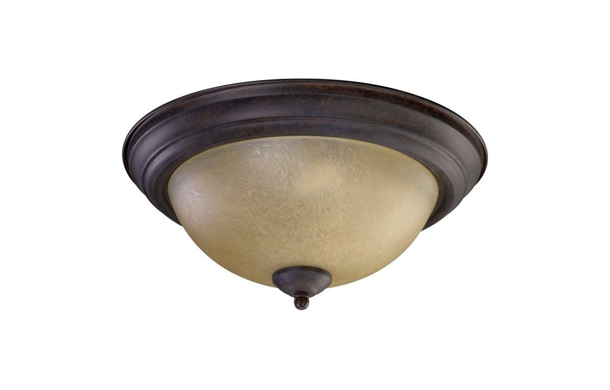 Quorum International 3073-13 2 Light Flushmount Ceiling Fixture with