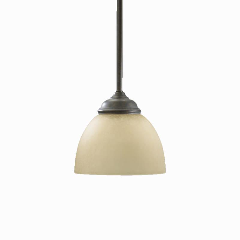 Quorum International 3135 Ashton 1 Light Mini Pendant Toasted Sienna