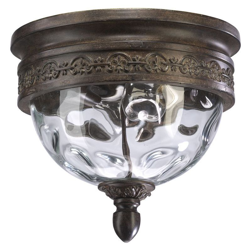 Quorum International Q3400-12 Georgia 2 Light Flushmount Outdoor