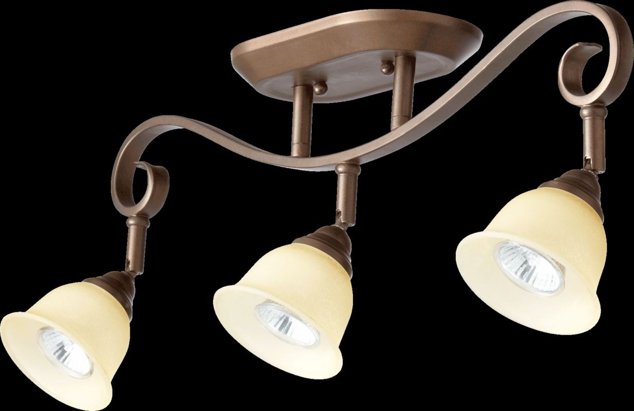 Decorative Star Ceiling Light Semi Flush Bathroom Fixture: Quorum International 3853-3-86 Oiled Bronze Celesta 3
