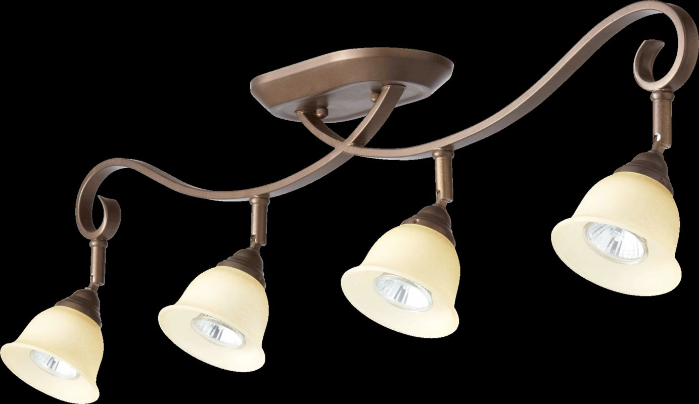 Quorum International 3853-4 Celesta 4 Light Semi-Flush Ceiling Fixture