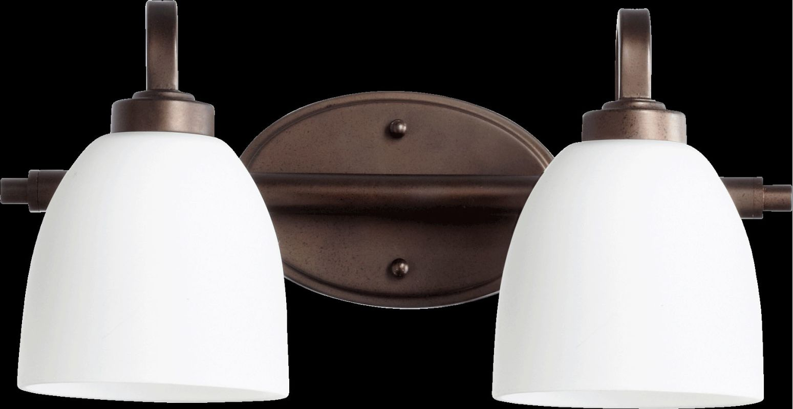 Quorum International 5060-2 Reyes 2 Light Bathroom Vanity Light Oiled Sale $99.00 ITEM: bci2220221 ID#:5060-2-86 :