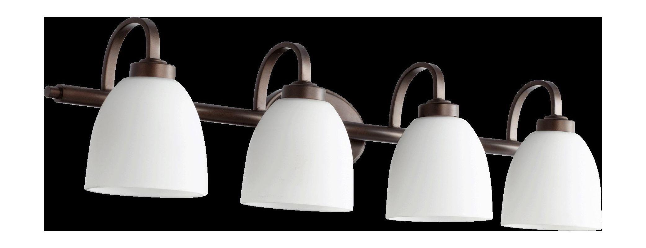 Quorum International 5060-4 Reyes 4 Light Bathroom Vanity Light Oiled