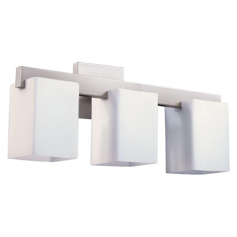 Quorum 5076-3-65 Satin Nickel Contemporary Modus Bathroom Light