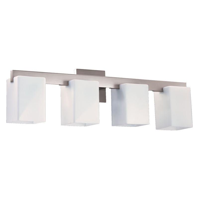 Quorum 5076-4-65 Satin Nickel Contemporary Modus Bathroom Light