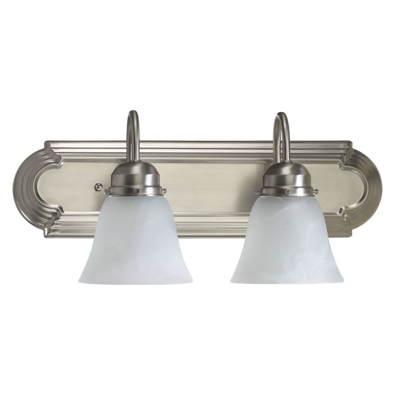 "Quorum International 5094-2 2 Light 18"" Wide Vanity Light with Shades"