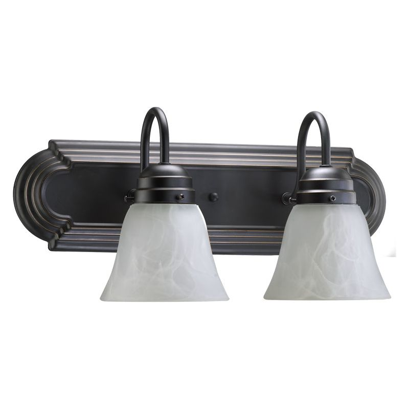 "Quorum International 5094-2-195 Two Light 18"" Wide Bathroom Fixture"