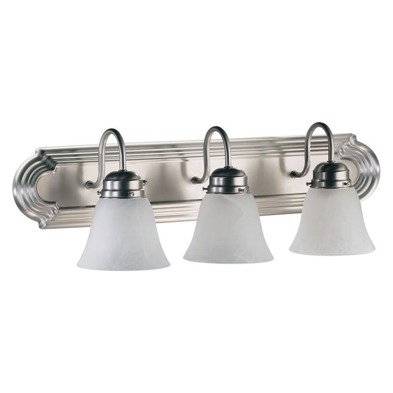 "Quorum International 5094-3 3 Light 24"" Wide Vanity Light with Shades"