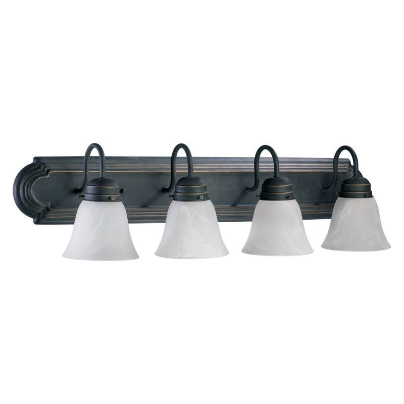"Quorum International 5094-4-195 Four Light 30"" Wide Bathroom Fixture"