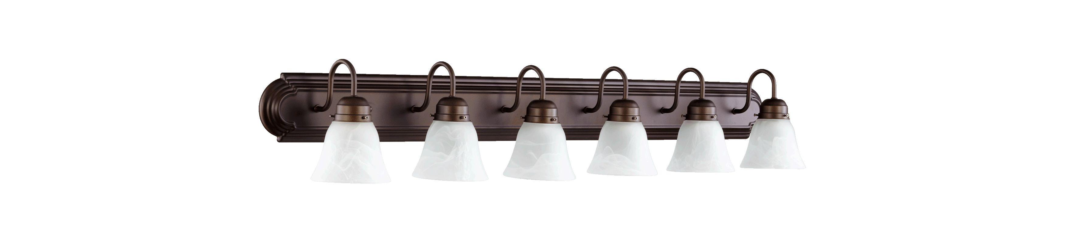 Quorum International 5094-6 6 Light Bathroom Vanity Light Oiled Bronze