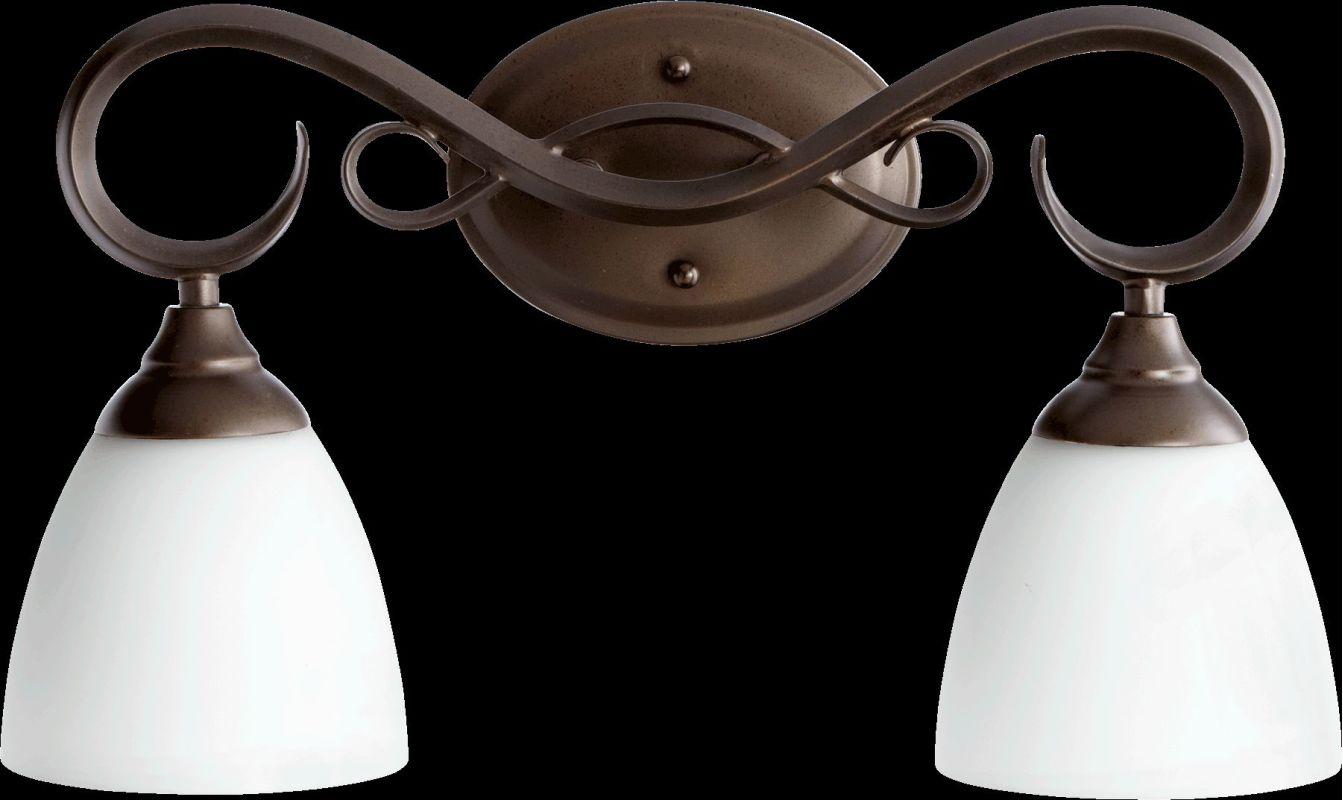 Quorum International 5108-2 Powell 2 Light Bathroom Vanity Light Oiled