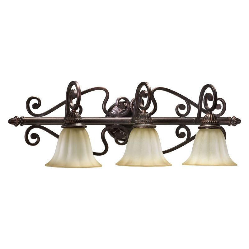 Quorum International 5126-3 3 Light Bathroom Vanity Fixture from the