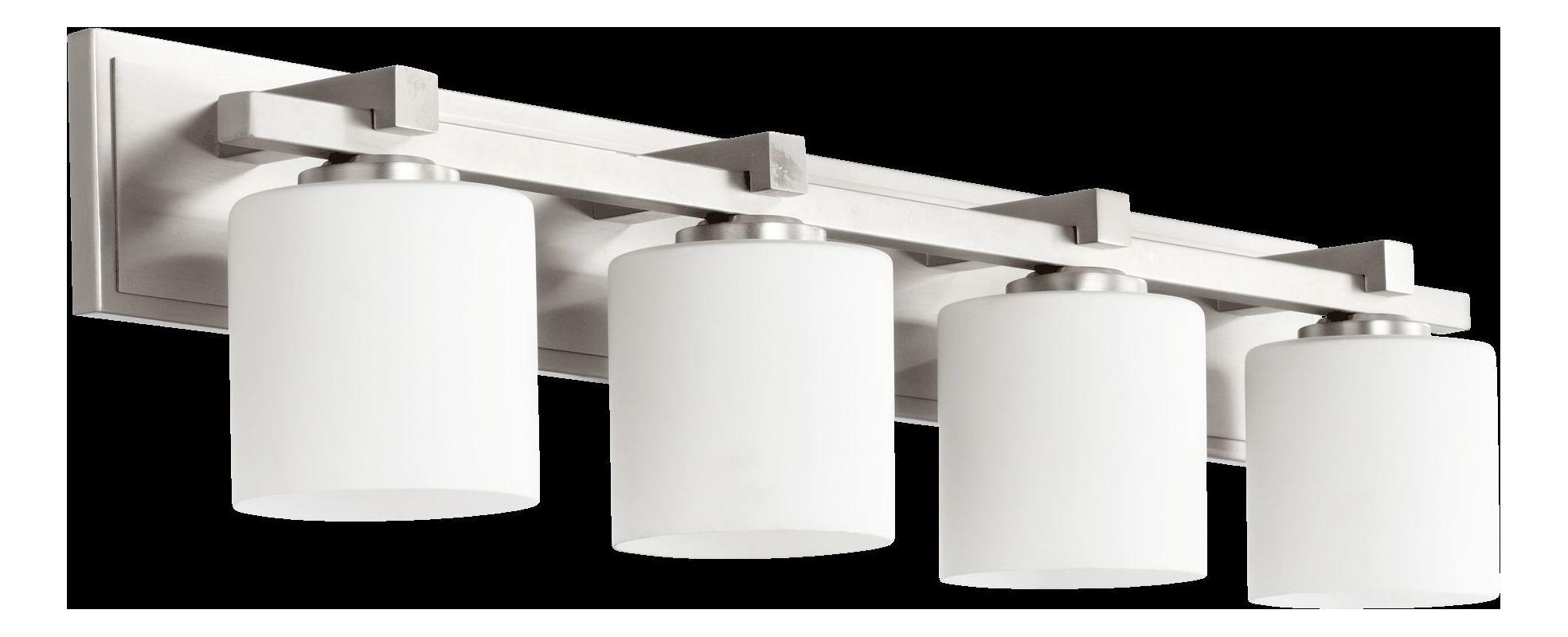 Quorum International 5369-4 4 Light Bathroom Vanity Light with Satin