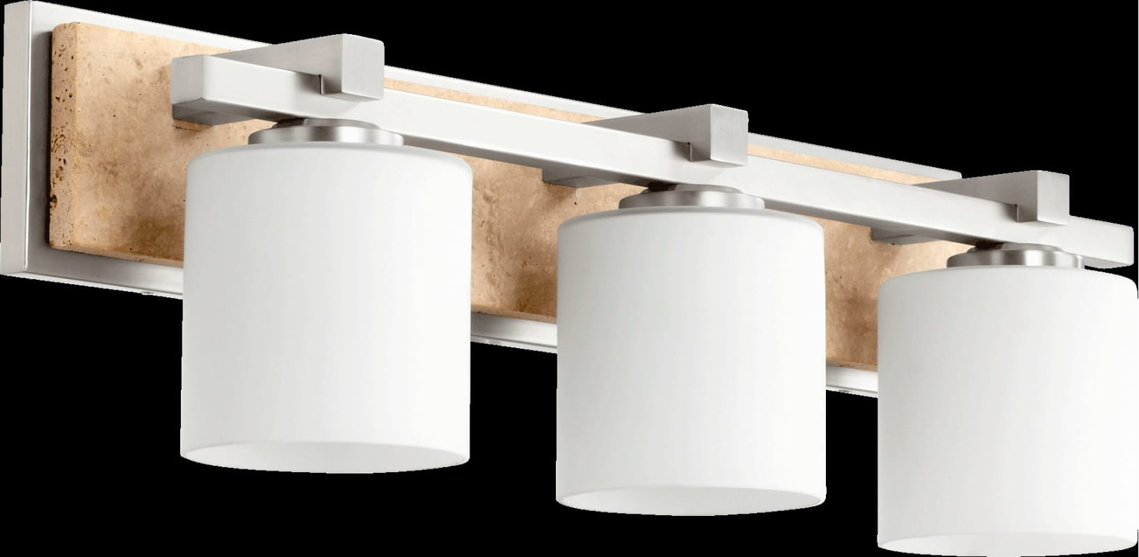 Bath Vanity Light Height : Quorum International 5370-3-65 Satin Nickel 7.5