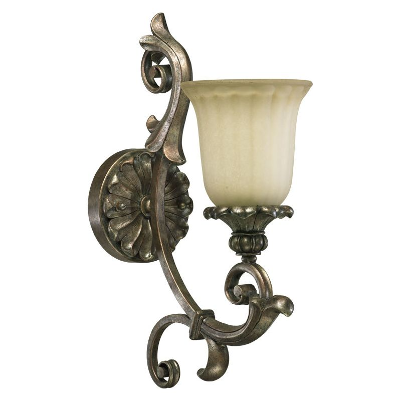 Quorum International 5400-1 Barcelona 1 Light Bathroom Sconce Mystic Sale $90.00 ITEM: bci729724 ID#:5400-1-58 :
