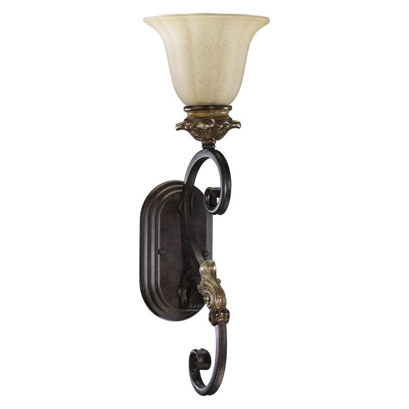 Quorum International 5401-1 Capella 1 Light Bathroom Sconce Toasted