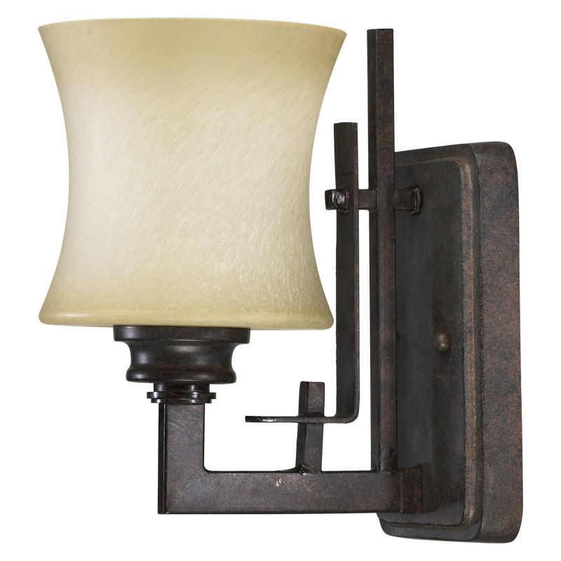 Quorum International 5433-1 Prairie 1 Light Bathroom Sconce Toasted