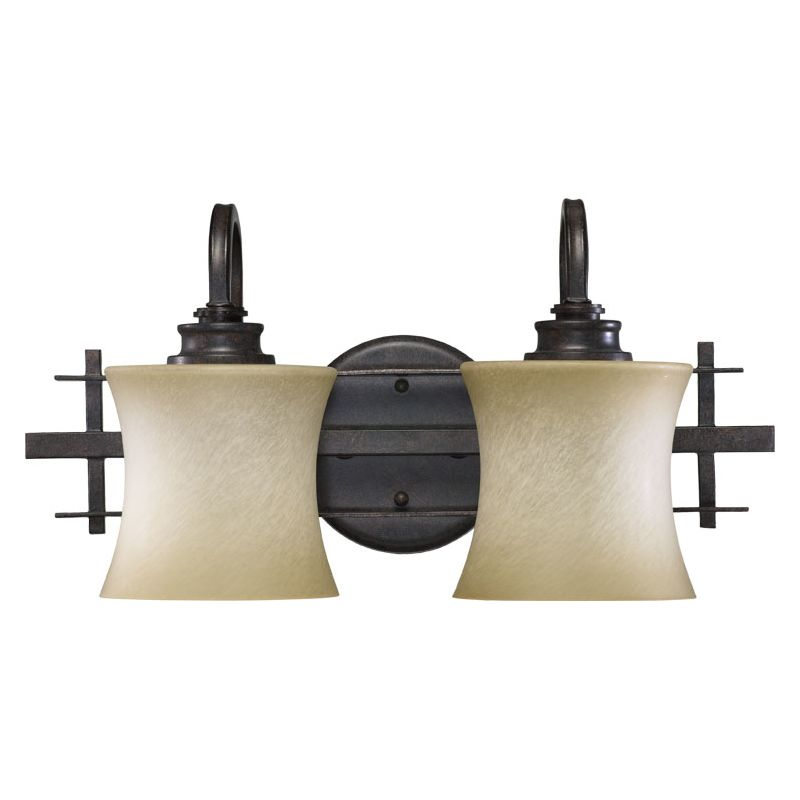 Quorum International 5433-2 Prairie 2 Light Bathroom Vanity Light Sale $139.00 ITEM: bci729866 ID#:5433-2-44 :