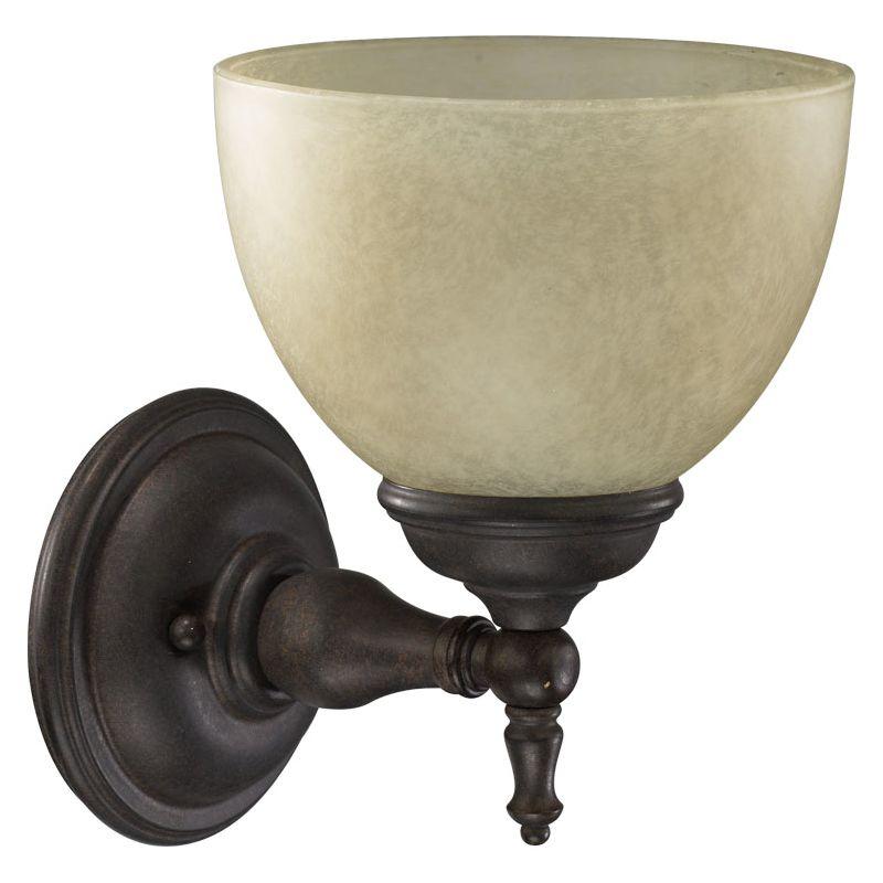 Quorum International 5435-1 Ashton 1 Light Bathroom Sconce Toasted