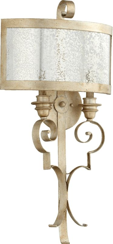 Quorum International 5481-2 Champlain 2 Light Wall Sconce Aged Silver
