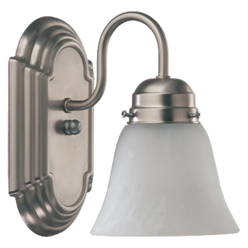 Quorum International 5494-1-165 1 Light Bathroom Sconce with Frosted