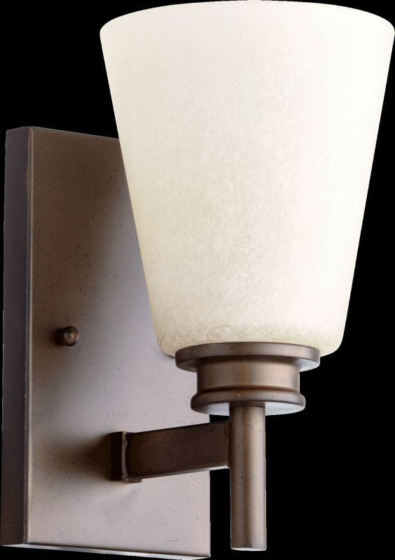 Quorum International 5502-1 Friedman 1 Light Bathroom Sconce Oiled