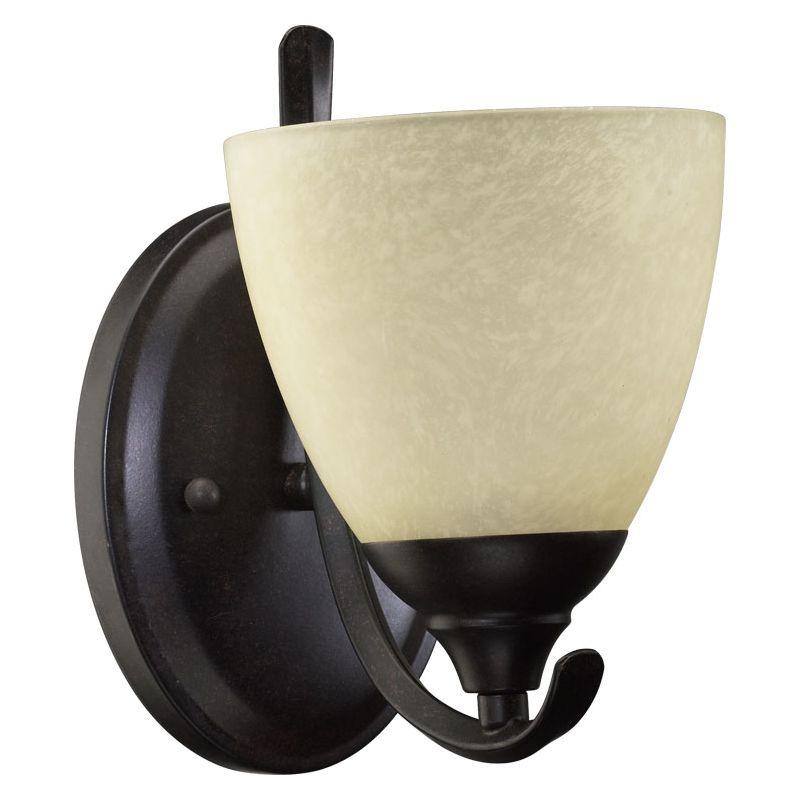 Quorum International 5508-1 Powell 1 Light Bathroom Sconce Toasted