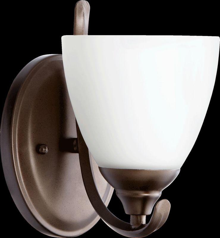 Quorum International 5508-1 Powell 1 Light Bathroom Sconce Oiled