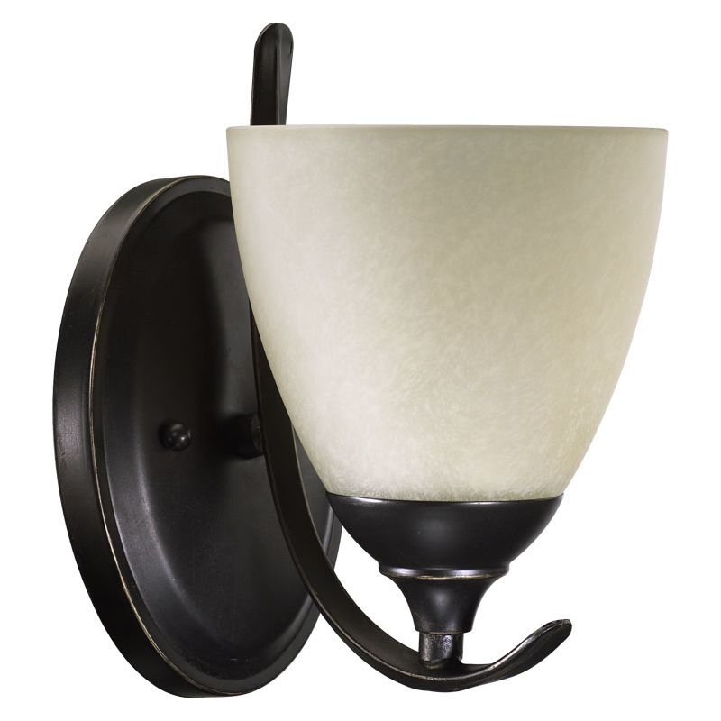 Quorum International 5508-1 Powell 1 Light Bathroom Sconce Old World