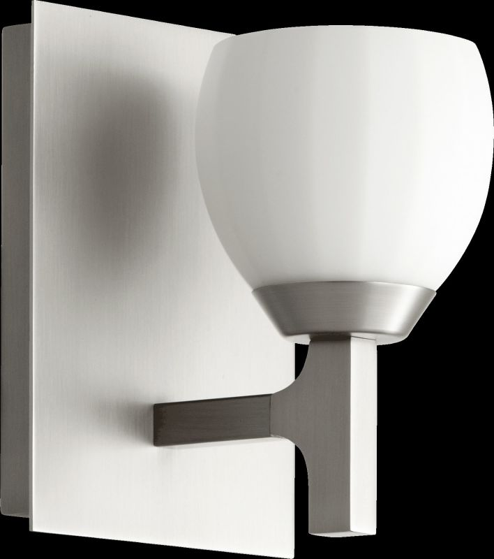 Quorum International 5667-1 1 Light Bathroom Sconce with Frosted Glass