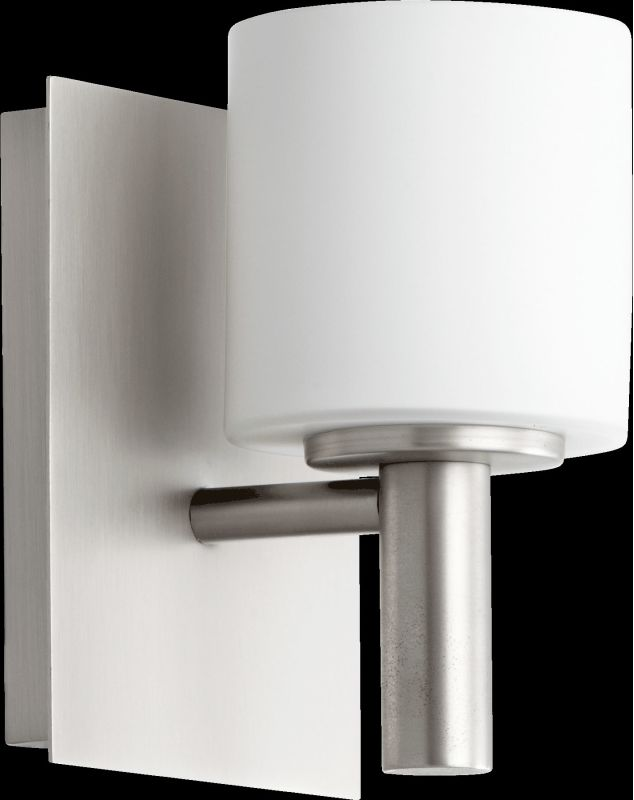 Quorum International 5668-1 1 Light Bathroom Sconce with Frosted Glass