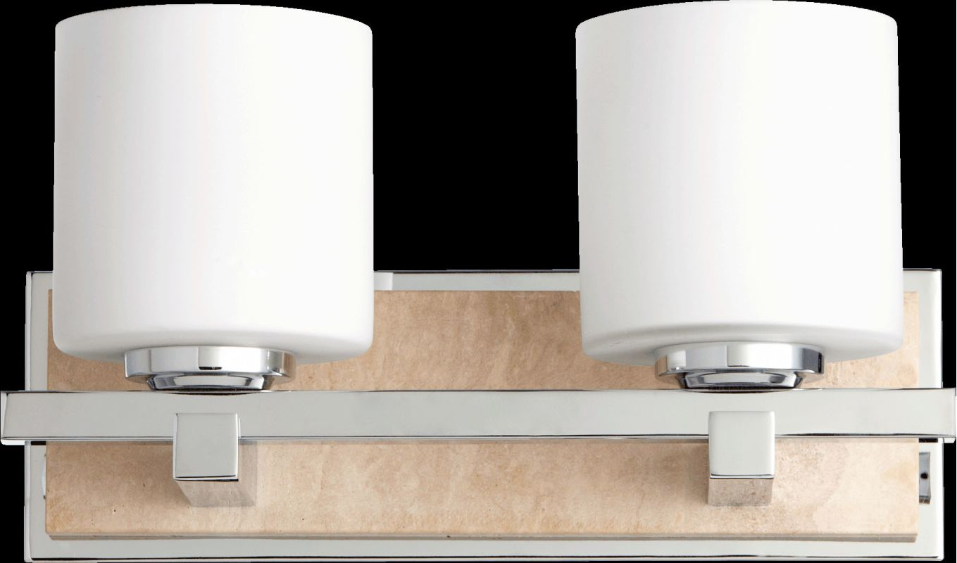 Quorum International 5670-2 2 Light Bathroom Vanity Light with Frosted