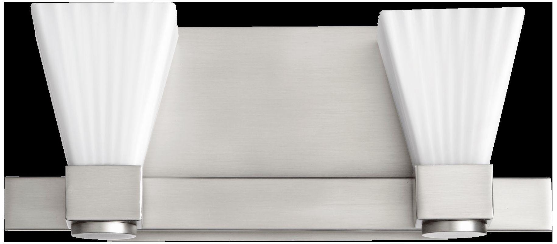 Quorum International 5671-2 2 Light Bathroom Vanity Light with Frosted