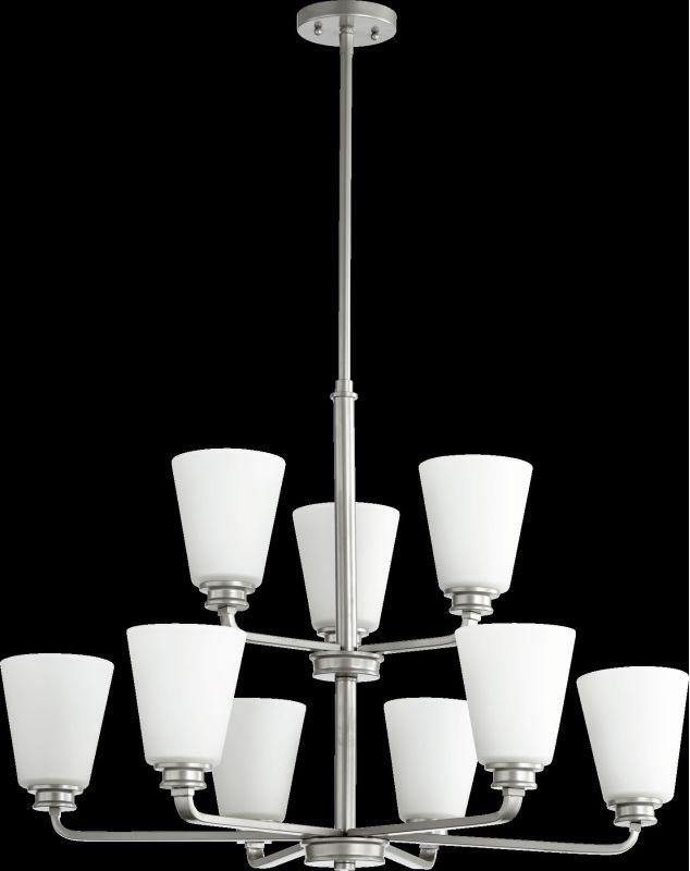 Quorum International 6002-9 Friedman 9 Light 2 Tier Chandelier Classic