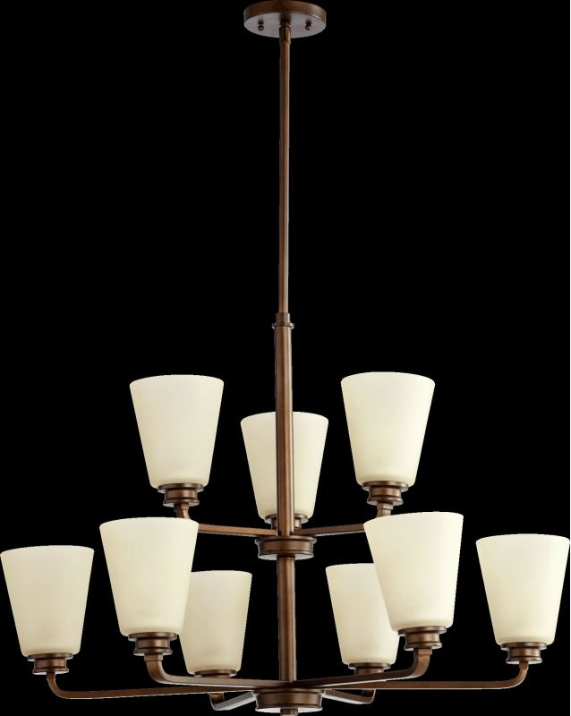 Quorum International 6002-9 Friedman 9 Light 2 Tier Chandelier Oiled
