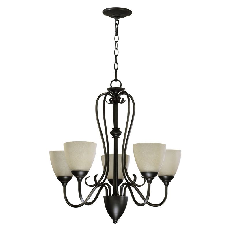 Quorum International 6008-5 Powell 5 Light 1 Tier Chandelier Old World