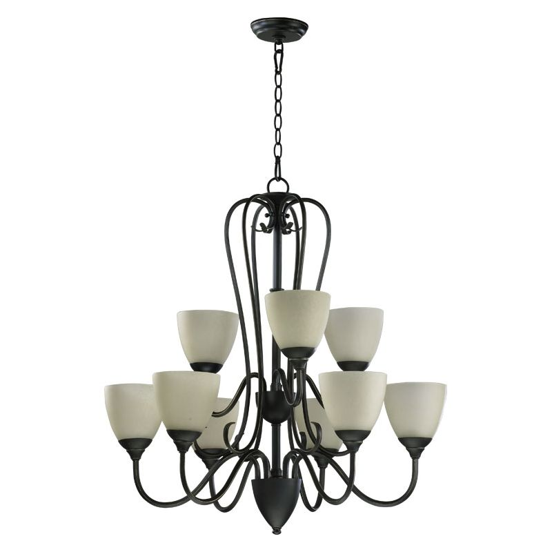 Quorum International 6008-9 Powell 9 Light 2 Tier Chandelier Old World