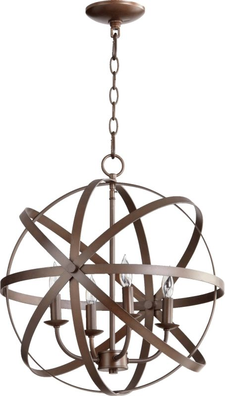 Quorum International 6009-4 Celeste 4 Light 1 Tier Globe Chandelier Sale $370.00 ITEM: bci2368671 ID#:6009-4-86 :