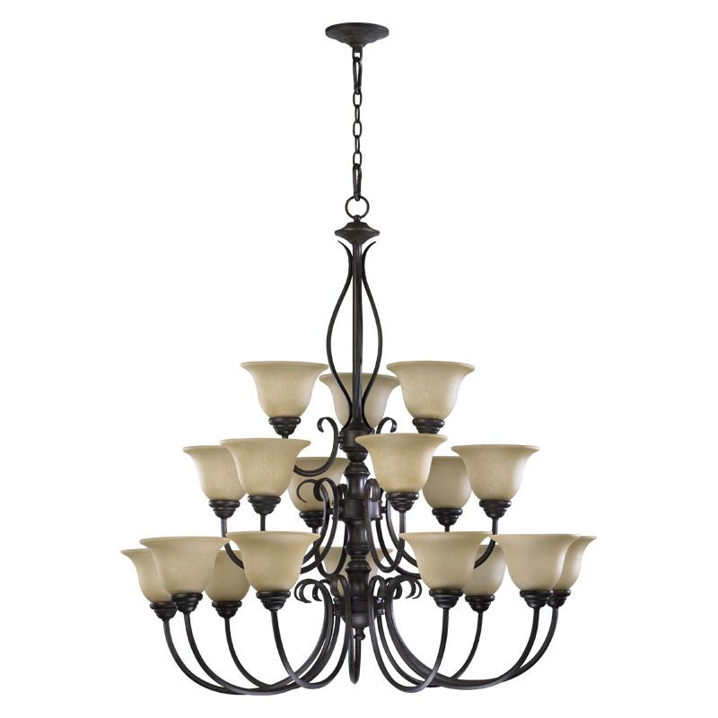 Quorum International 6010-18 Spencer 18 Light 3 Tier Chandelier