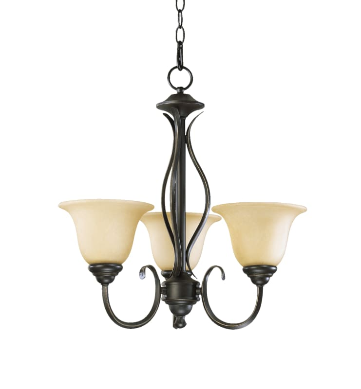 "Quorum International 6010-3 Spencer 3 Light 20"" Wide Single Tier"
