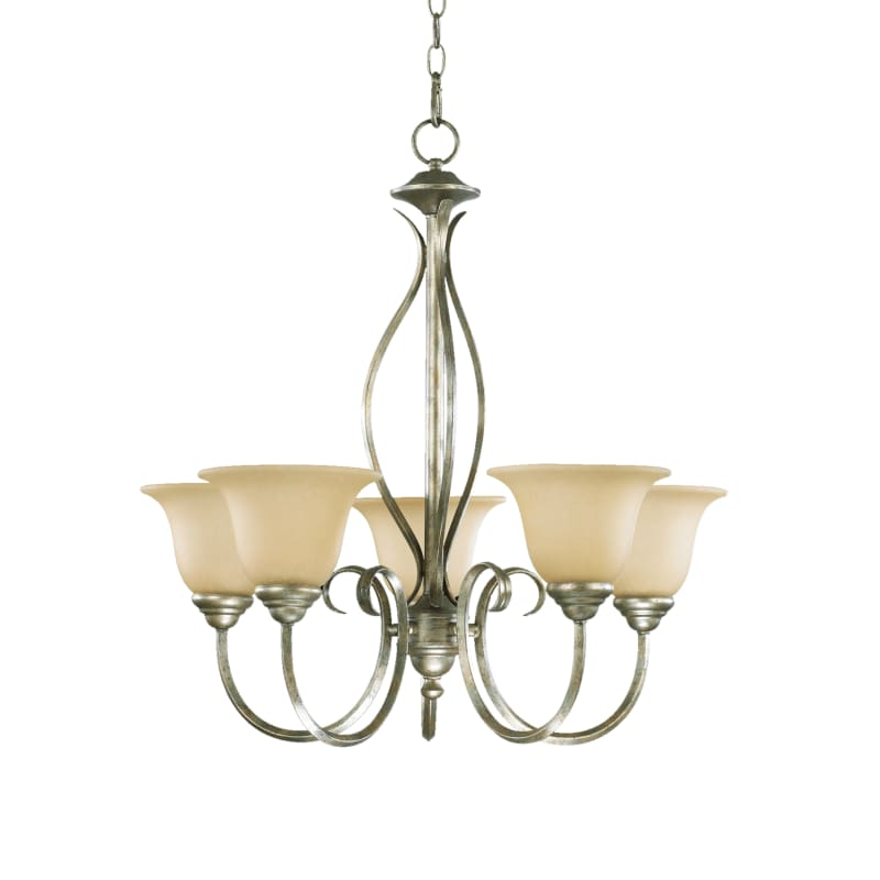 "Quorum International 6010-5 Spencer 5 Light 25"" Wide Single Tier"