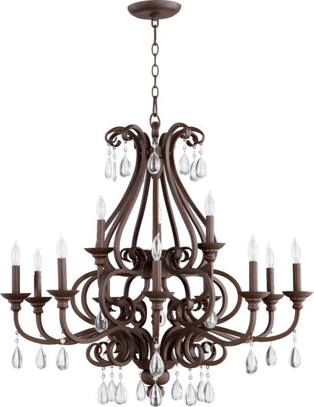 Quorum International 6013-12 Anders 12 Light 2 Tier Candle Style