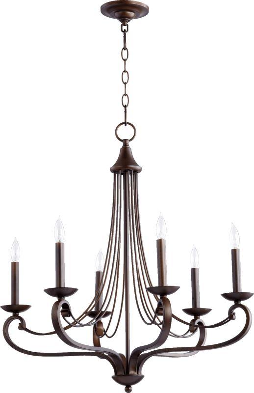 Quorum International 6030-6 Lariat 6 Light 1 Tier Candle Style