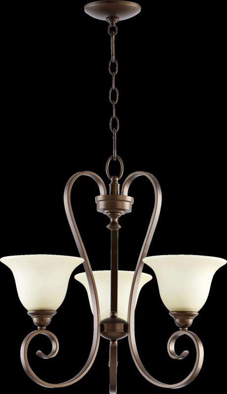 Quorum International 6053-3 Celesta 3 Light 1 Tier Chandelier Oiled