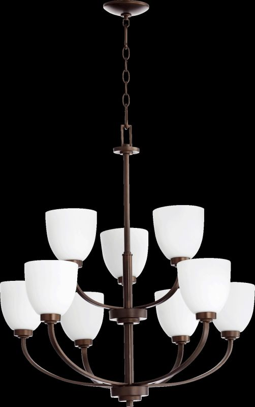Quorum International 6060-9 Reyes 9 Light 2 Tier Chandelier Oiled