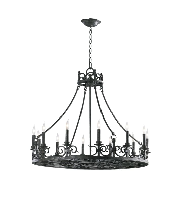 Quorum International 6093-12 Lorenco 12 Light 1 Tier Chandelier