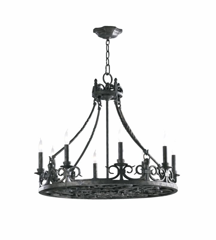 Quorum International 6093-8 Lorenco 8 Light 1 Tier Chandelier Spanish
