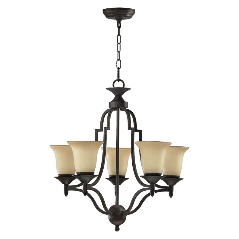Quorum International 615-5 Coventry 5 Light 1 Tier Chandelier Toasted