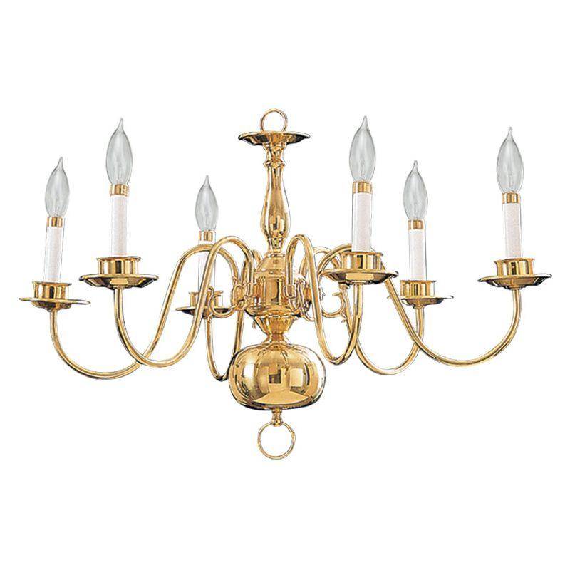 Quorum International Q6171-6 6 Light 1 Tier Candle Style Chandelier