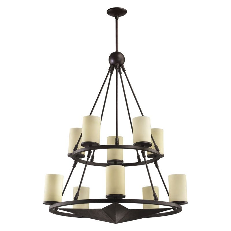 Quorum International 6228-10 Lone Star 10 Light 2 Tier Chandelier Sale $1050.00 ITEM: bci730220 ID#:6228-10-44 :